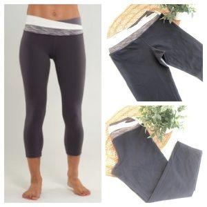 Lululemon Athletica Cropped Leggings Gray Size 6